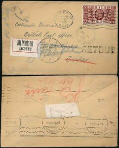 GB 1935 SILVER JUBILEE to TURKEY...TAXE...POSTMASTER GENERAL...UNKNOWN