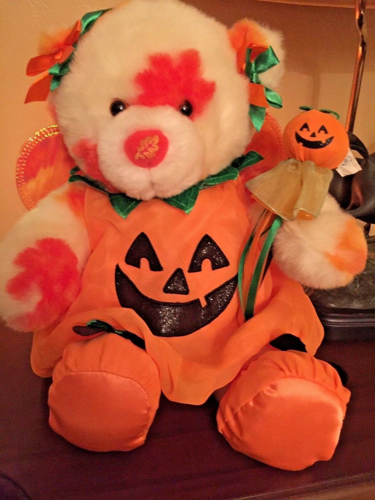 BUILD-A-BEAR™ BUILD-A-BEAR™ BUILD-A-BEAR™ 2009 AUTUMN HUGS BEAR 15  PLUSH HALLOWEEN PUMPKIN OUTFIT LTD. ED. f1b18a