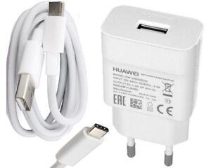 Original-Huawei-HW-059200EHQ-2A-QC-Schnell-Ladegeraet-Typ-C-USB-Kabel-weiss