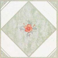 Green Vinyl Floor Tile 40 Pcs Adhesive Kitchen Flooring - Actual 12'' X 12'' on sale