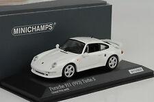 1998 Porsche 911 993 Turbo S 3.6 grandprix white 1:43 Minichamps Diecast 300pcs