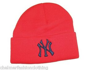 BNWT - NEW ERA OFFICIAL MLB New York NY Yankees Beanie Hat - Red  bedf936c0d3