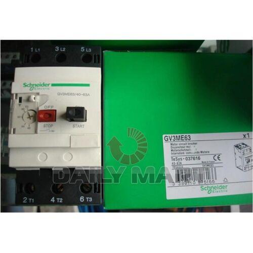 Schneider Telemecanique Motor Circuit Breaker GV3ME63 40-63A Original New in Box