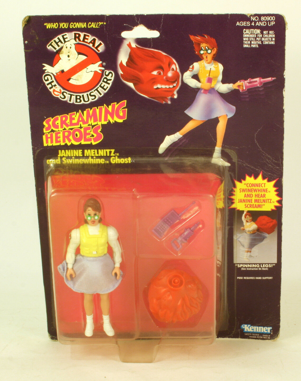The real ghostbusters sceaming helden janine melnitz moc 1984 kenner
