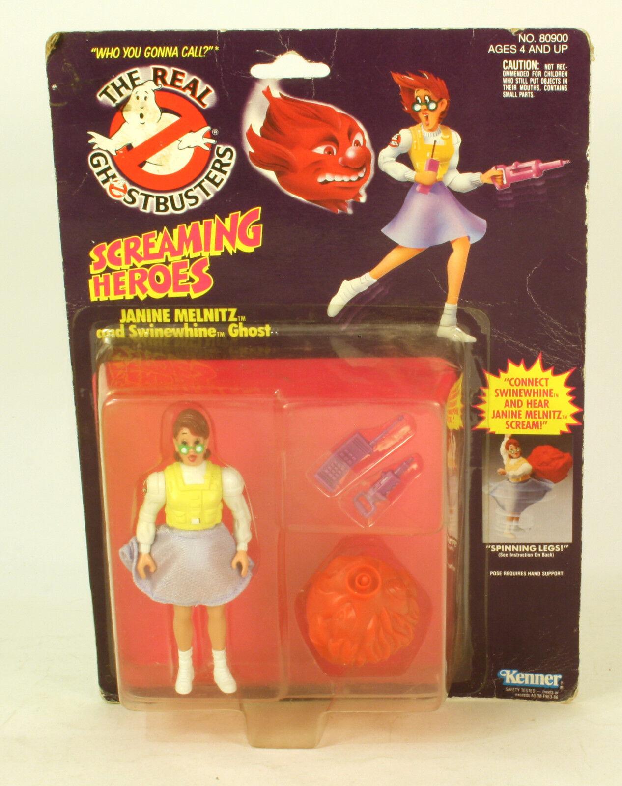 The real ghostbusters sceaming helden janine melnitz moc 1984 kenner