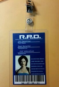 Resident-Evil-ID-Badge-R-P-D-Jill-Valentine-prop-costume-cosplay
