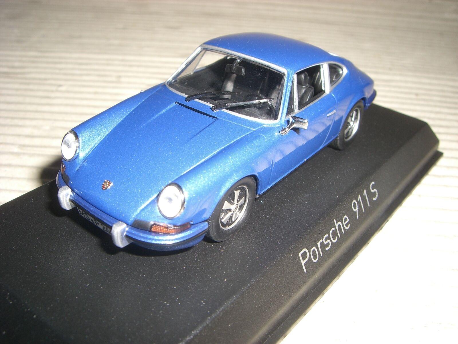 Norev Porsche 911 S 2,4L 1973 1973 1973 blue mét. 1 43 750055 c94d27