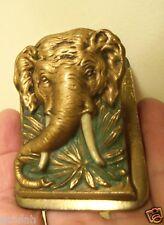 Antique JUDD Cast Iron ELEPHANT TUSKS paper letter desk clip 5271 & 5267
