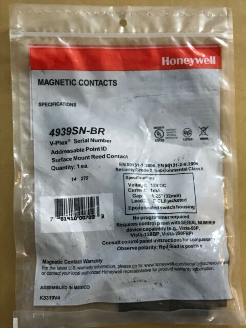 NEW Honeywell 4939SN-BR Brown V-Plex Addressable Surface Mount Magnetic Contact