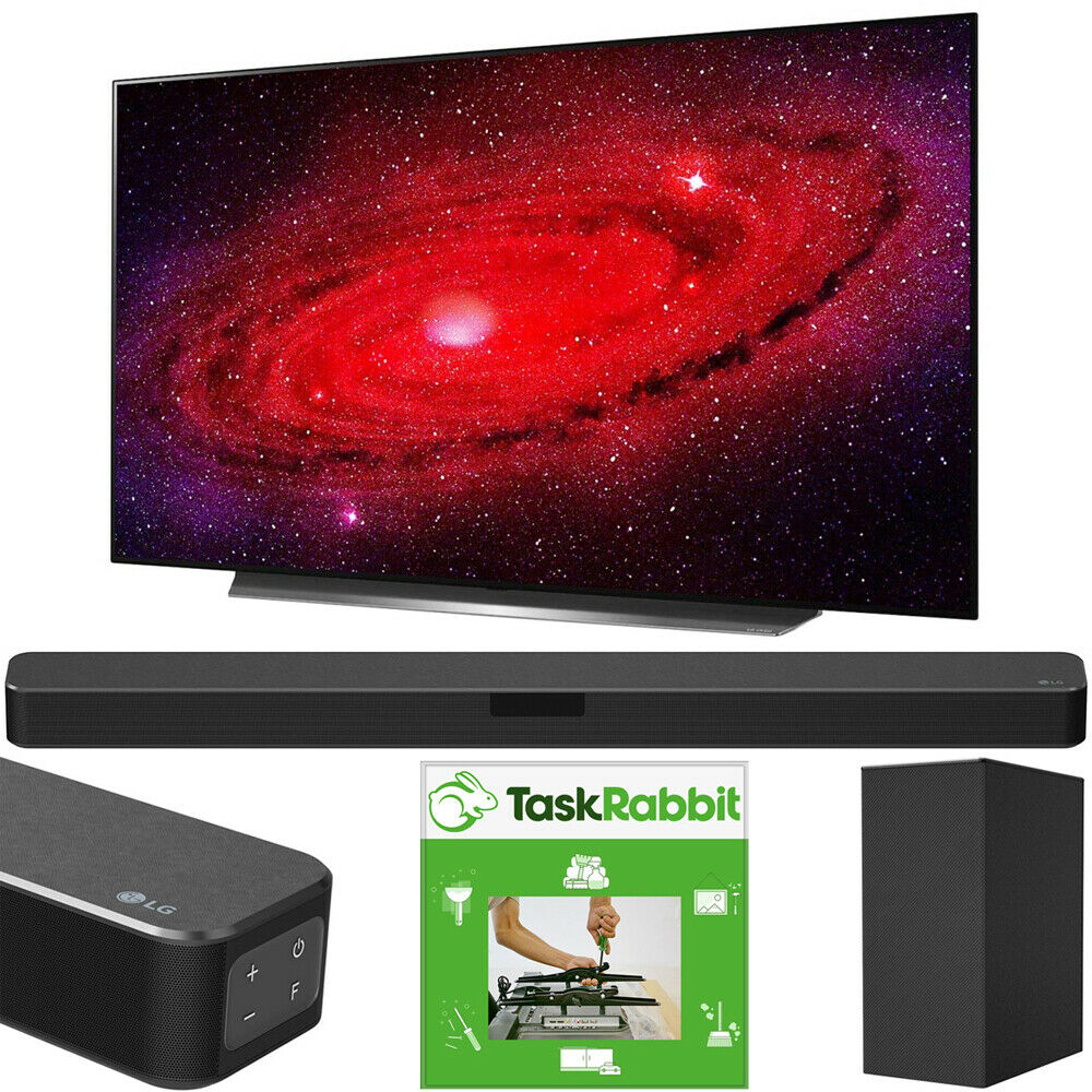 LG 77 CX 4K Smart OLED TV AI ThinQ (2020) +LG SN5Y Sound Bar Bundle. Available Now for 3296.99