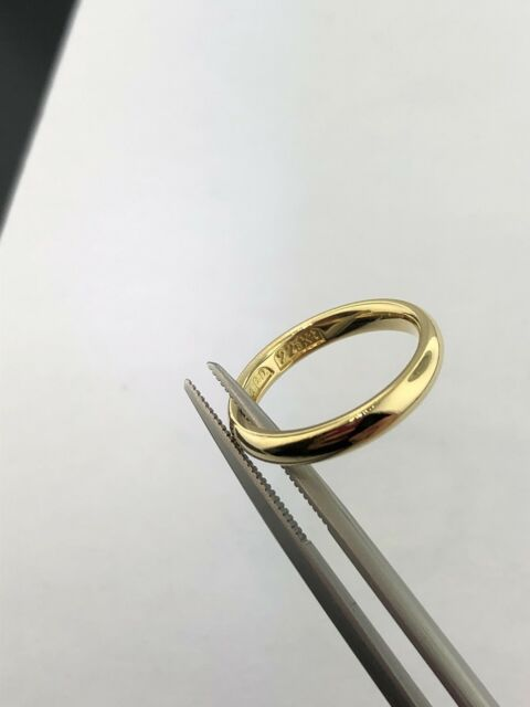 Lady's 22k yellow gold comfort fit 1/2 round 3 mm wedding band, sz 5