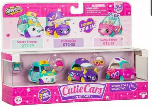 Shopkins Cutie Voiture Pack De 3 Die Cast série 2-Speedy Style Collection