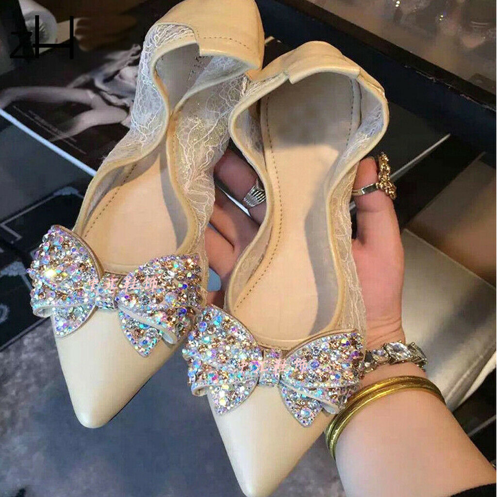 2Pcs Rhinestone Crystal Shoe Charms Clip Wedding Pointed Shoes Decor Jewelry