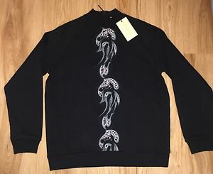 Christopher-Kane-Embroidered-Black-Sweatshirt-Sweat-Jumper-UNIQUE-NEW-L