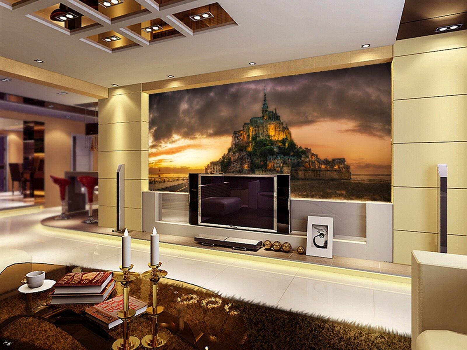 3D Dunkle Wolken Schloss 893 Tapete Wandgemälde Tapeten Bild Familie DE Lemon