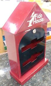 Fido House, Dog Pet Waste Bag Dispenser Station Lockable w/ Keys, Wall Mountable