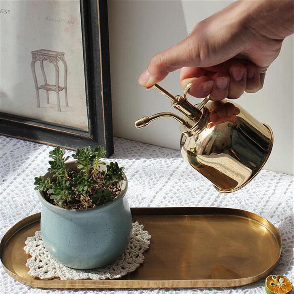 Vintage Polished Solid Brass Plant Water Mister Spray Indoor Garden Bottle 300ml