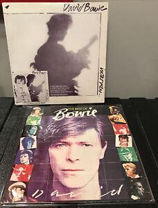 David Bowie KTELRCA The Best Of Bowie plus RCA demo interview 2 lp albums