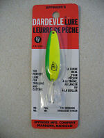 Dardevle Lure Genuine Eppinger Usa 2 1/8 Yellow Green Nickel