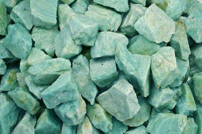 Cabbing 5 Pounds Natural Amazonite Rough from Madagascar Reiki Tumble Rocks