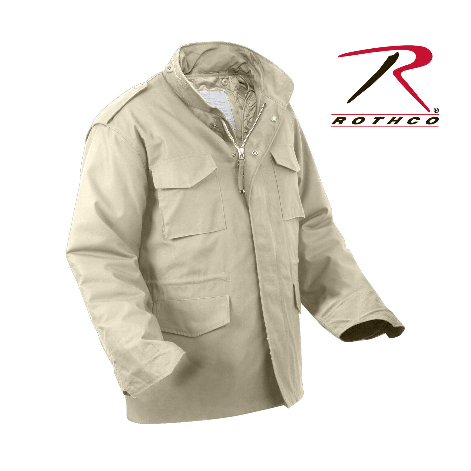 Rothco M65 Field Coat with removeable quilted liner KHAKI