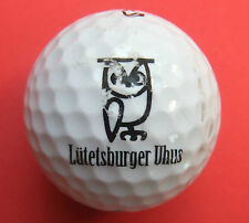 Pelota de golf con logo-lütelsburger buhos golf club de lechuza logotipo Ball como regalo gag