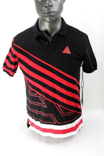 Black Pyramid S//S LOGO POLO SHIRT RED//BLACK//WHITE Y1161245DT-RD