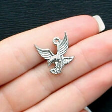 SC6323 2 Eagle Charms Antique Silver Tone Large Size Incredible Detail