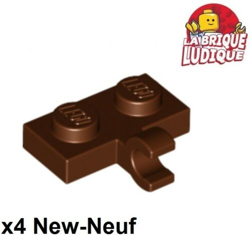Lego 4x flach geändert 1x2 Clip Horizontal braun/rötlich braun 11476 neu LEGO Bau- & Konstruktionsspielzeug