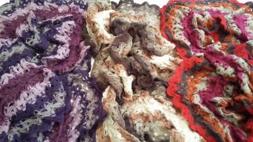 Bnwt-long-super doux dentelle tricot élastique à volants foulards-L185 x l 30 cm