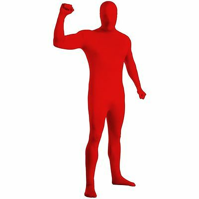 ZENTAI SUIT COSTUME ADULT 2nd SKIN SUIT SPANDEX BODYSUIT HALLOWEEN RED MAN