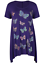 Plus-Size-Ladies-Short-Sleeve-Butterfly-Print-Dip-Hanky-Hem-Casual-T-Shirt-Top thumbnail 7