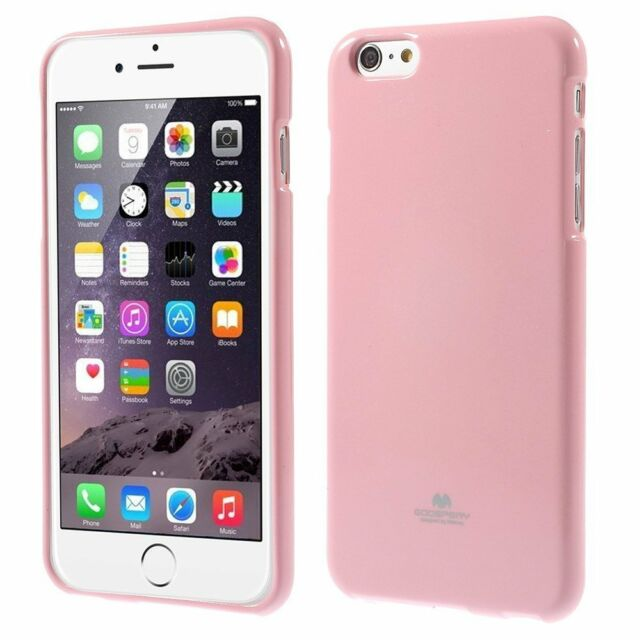 buy popular 1afaa e70cc Genuine Mercury Goospery Pink Soft Jelly Skin Case Cover for Apple iPhone  6/6s