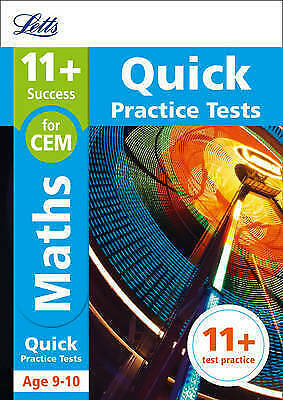 11+ Maths Quick Practice Tests Age 9-10 for the CEM tests by Letts 11+|McMahon,