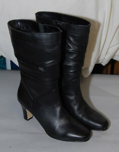 Fitzwell Womens Size 9 Black Leather