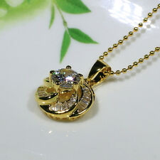 18K Yellow Gold Filled CZ Lady Women Fashion Jewelry Gift Necklace Pendant P0280
