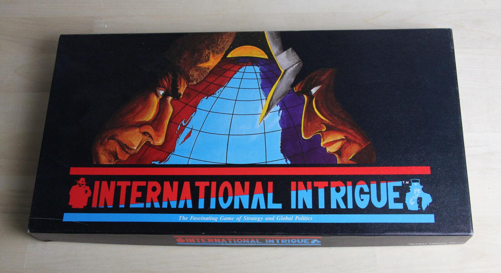 INTERNATIONAL INTRIGUE Board Game Global Trends Inc 1986 Strategy Politics