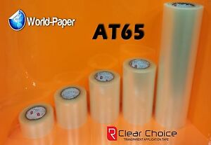 CLEAR-Application-Premask-R-Tape-sign-vinyl-roll-low-tack-transfer-6-034-x-100yd