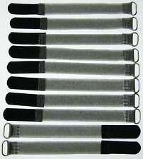 10 x Kabelklett m Öse 160 x 16 mm schwarz FK Klett Band Kabelbinder Klettbänder