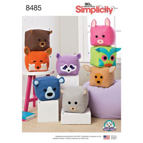 Simplicity 8485 NEW Stuffed Cube Animals
