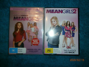 2x-Teen-Comedy-DVDs-Mean-Girls-Lindsay-Lohan-Mean-Girls-2-Meaghan-Martin