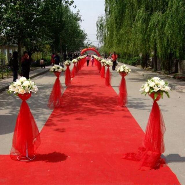 16ft Once Celebrity Floor Runner Red Carpet Party Wedding Disposable Scene Decor