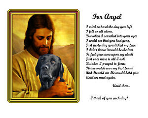 Your-Dog-With-Jesus-Pet-Memorial-Custom-Made-Personalized-w-Picture-Poem
