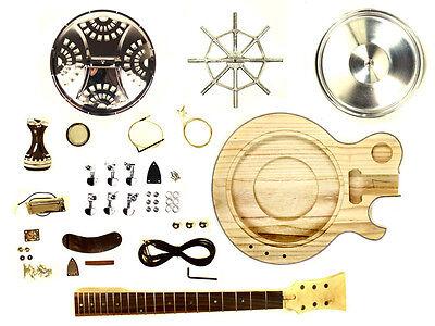 resonator guitar acoustic electric diy kit single cutaway steel pan blues ebay. Black Bedroom Furniture Sets. Home Design Ideas