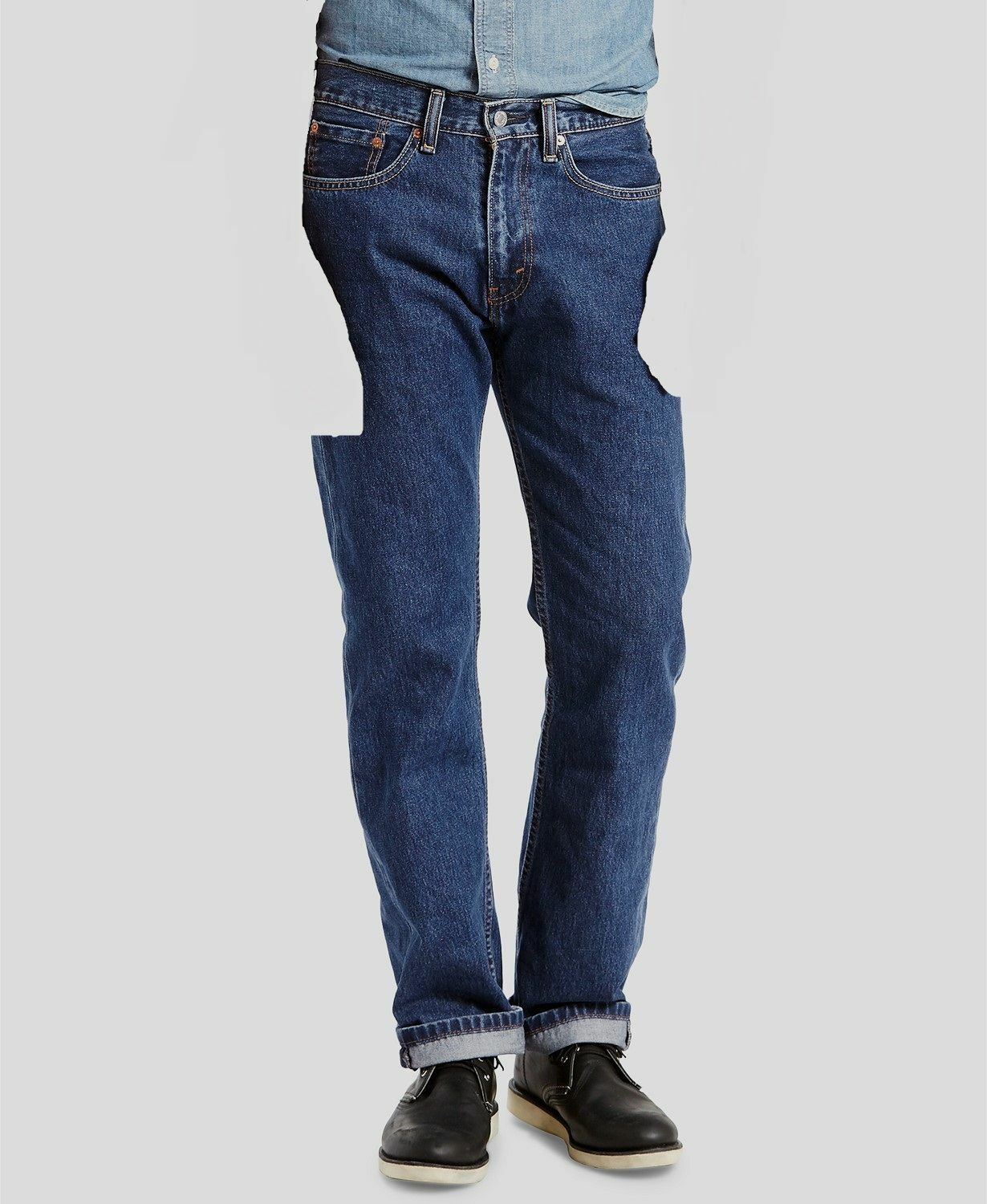 NWT Levi/'s 505 jeans 33 x 34 Regular Fit Retail $60   Style # 00505-1369