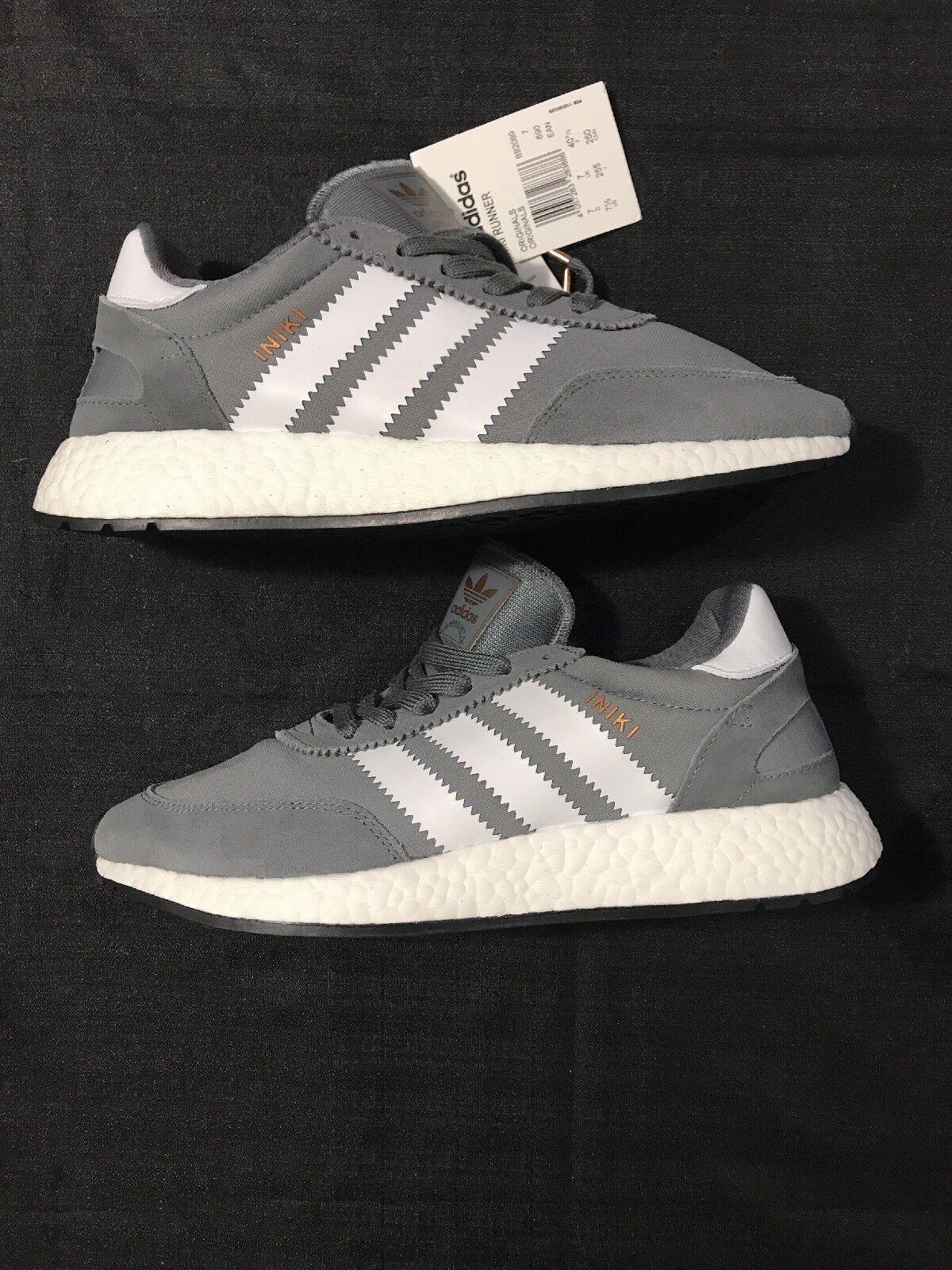 Adidas INIKI Boost Runner Men's Size 7.5 BB2089. Vista Grey / White