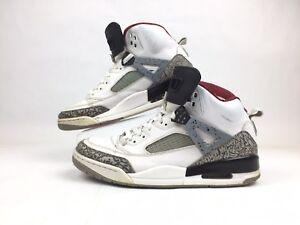 4e3fd54bb82b Jordan Spizike White Cement Grey Varsity Red 315371-122 Mens Size ...