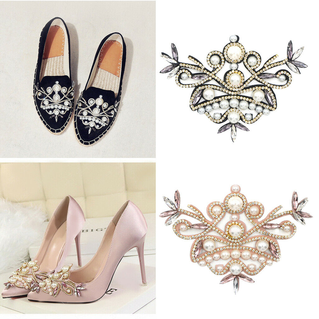 2 Pack Shoe Charms Clip Wedding Bridal Pointed Shoes Ornaments Jewelry
