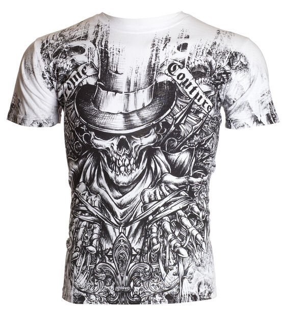 Xtreme Couture AFFLICTION Mens T-Shirt OFFERING Tattoo Biker MMA UFC M-4XL $40 d