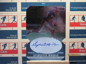2000-SAGE-HIT-Autographs-Diamond-Die-Cuts-24-Sylvester-Morris